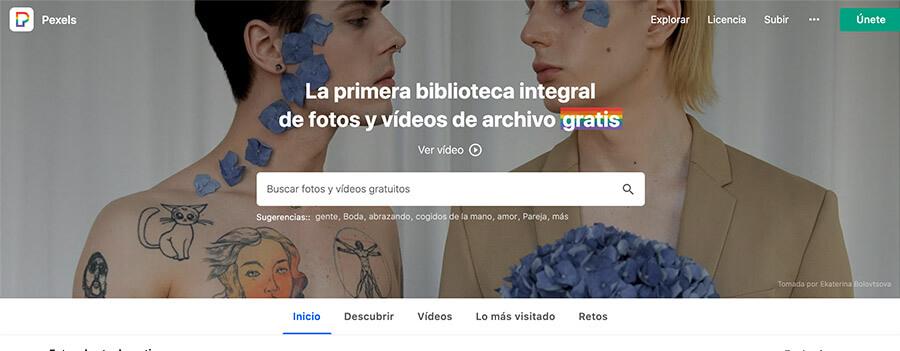 Banco de imagenes gratis pexels
