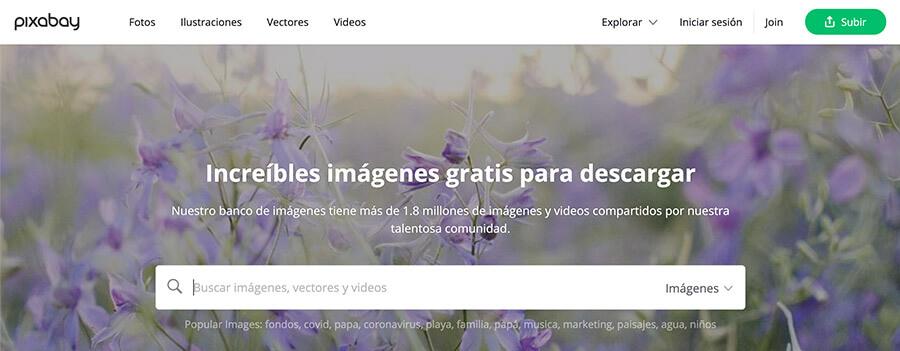 Banco de imagenes gratis pixebay