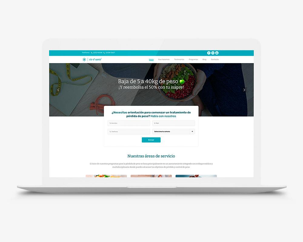Diseño pagina web nutrición viesante